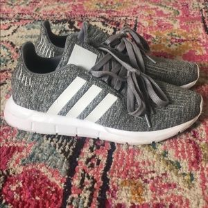 Sparkly Gray Adidas Shoes Girls Size 4